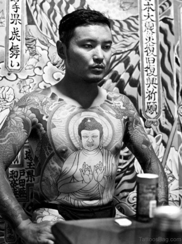Magnificent Buddha Tattoo On Chest