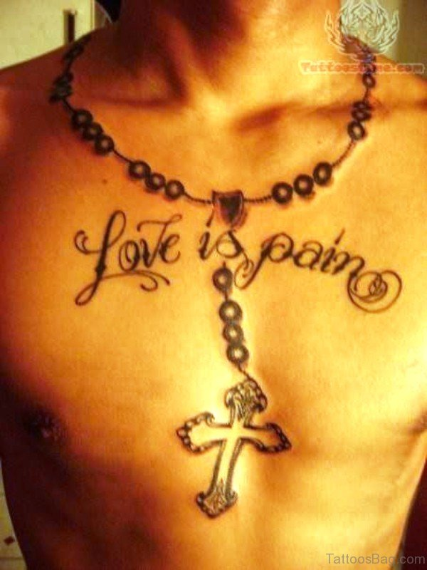 Magnificent Rosary Tattoo On Neck