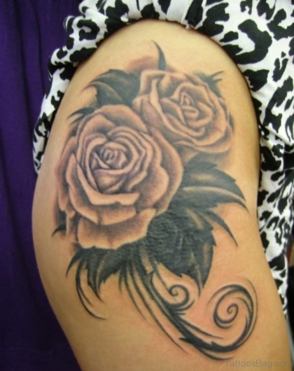Magnificent Rose Tattoo