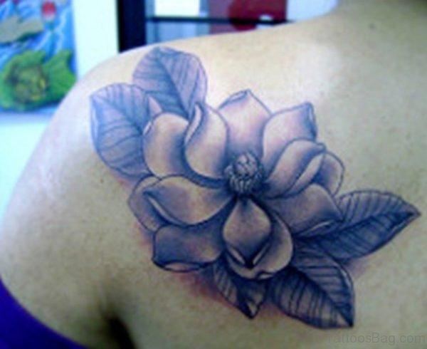 Magnolia Tattoo Design On Back