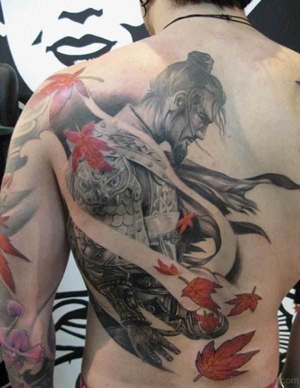 Man Japanese Shoulder Tattoo