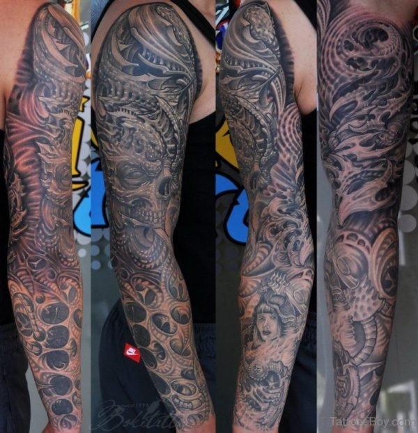 Mandala Alien Tattoo