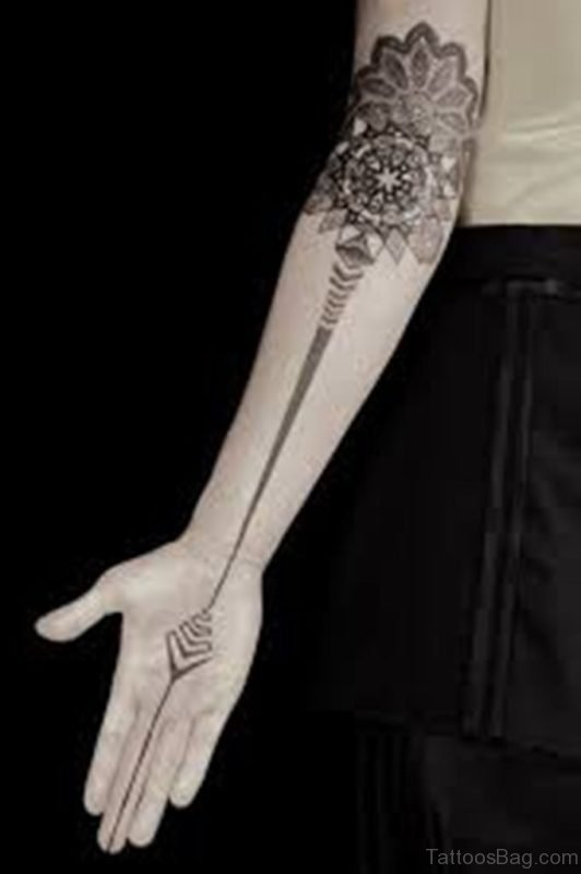 Mandala Arm Tattoo Design
