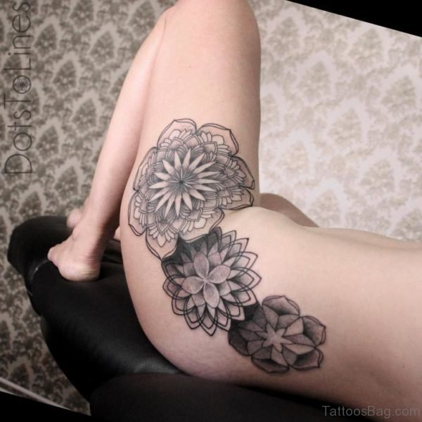 Mandala Flowers Tattoo