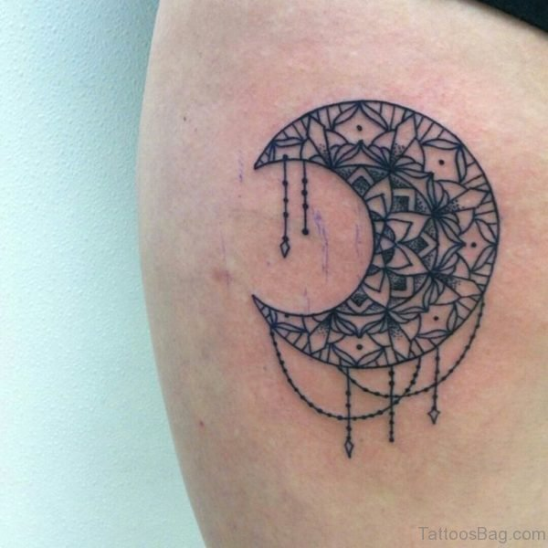 Mandala Moon Tattoo