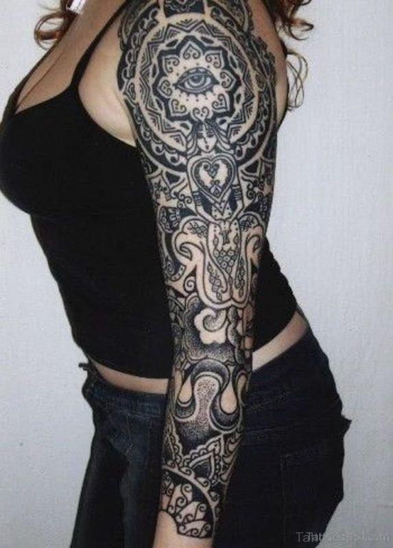 Mandala Tattoo Design For Full Sleeve