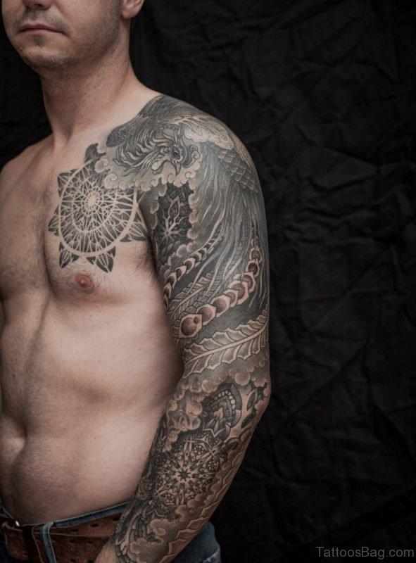 Mandala Tattoo Design On Full Sleeve