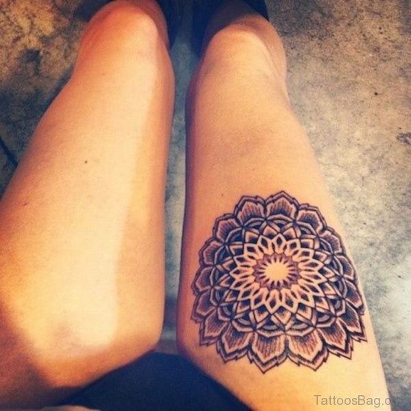 Mandala Tattoo Design On Thigh