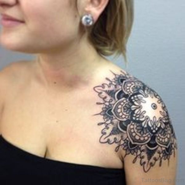 Mandala Tattoo For Girls On Shoulder