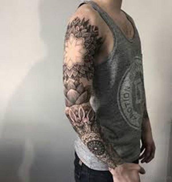 Mandala Tattoo On Full Sleeve