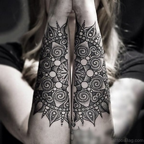 Mandala Tattoo On Girl Arm Image