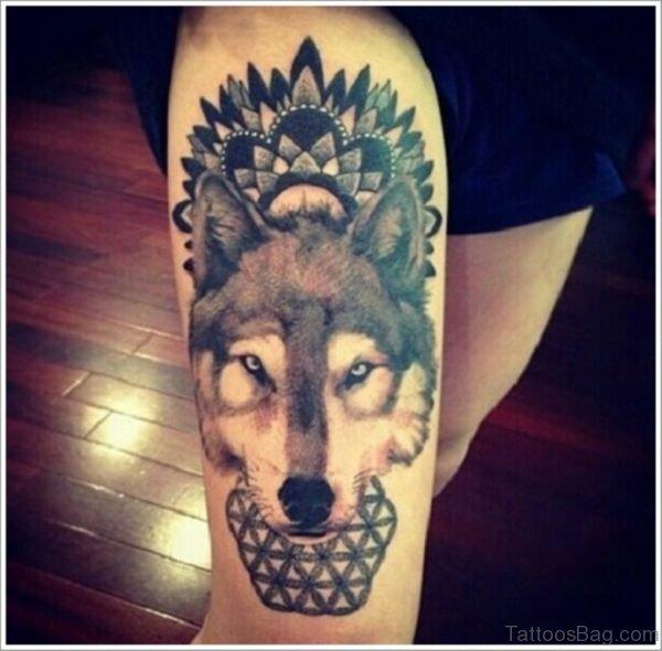 Mandala Wolf  Tattoo