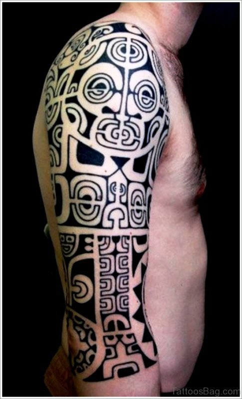 Maori Shoulder Sleeve Tattoo Design