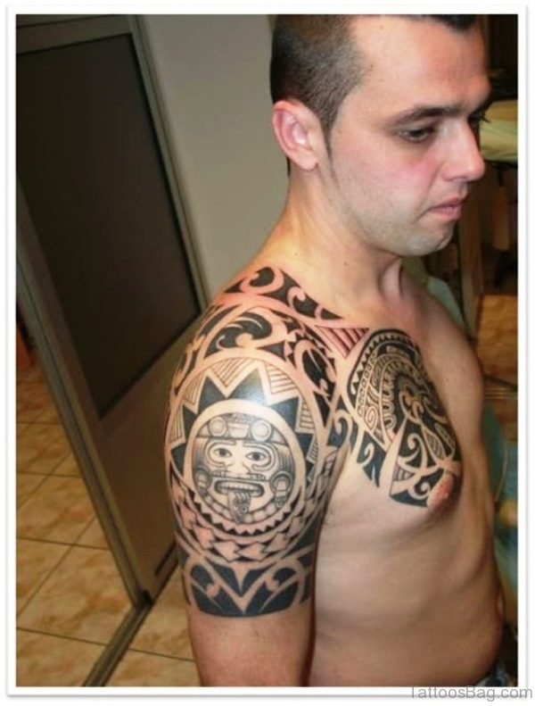 Maori Shoulder Tattoo For Men
