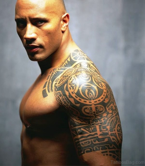 Maori Tattoo Design On Left Shoulder