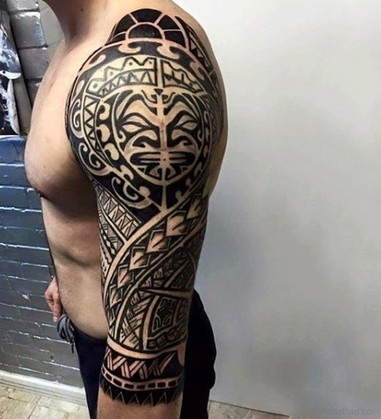 Tatuagem Maori: 56 Maori Tattoo Designs On Full Sleeve