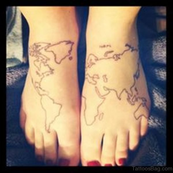 Map Tattoo Design