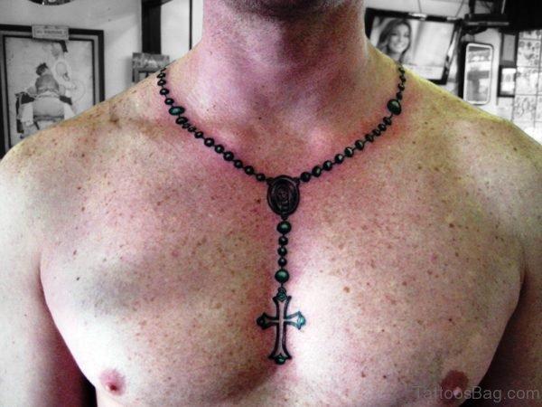 Marvellous Rosary Neck Tattoo