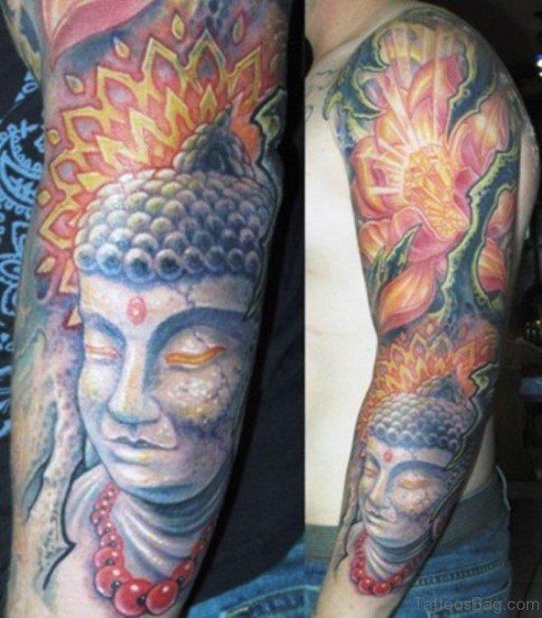 Marvelous Buddha Tattoo Full Sleeve