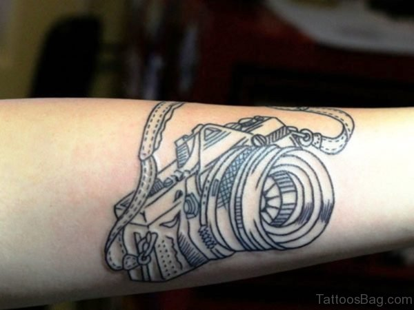 Marvelous Camera Wrist Tattoo