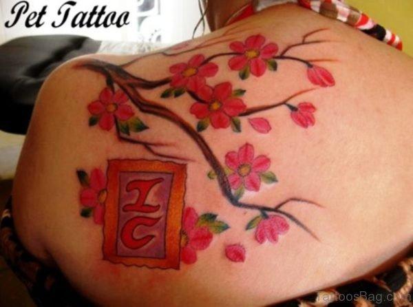 Marvelous Cherry Blossom Tree Tattoo