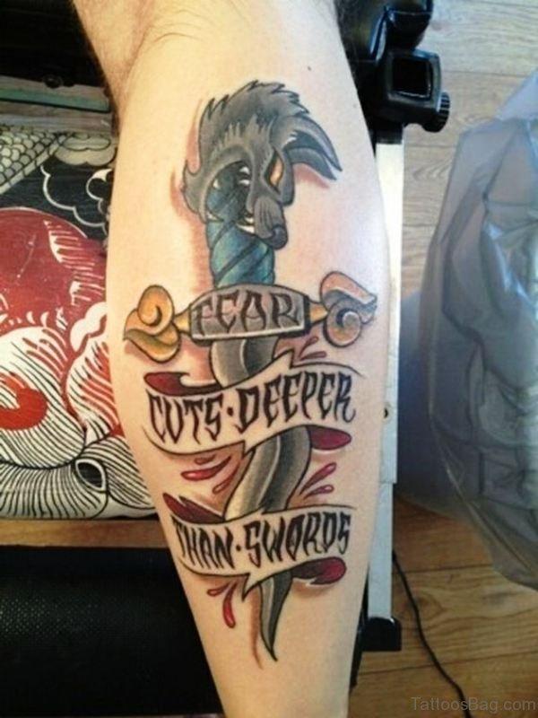 Marvelous Dagger Tattoo Design