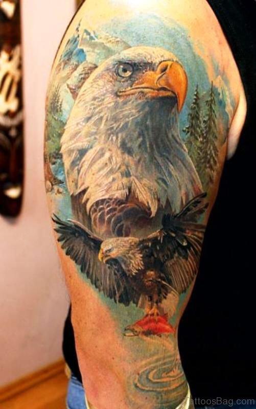 Marvelous Eagle Shoulder Tattoo
