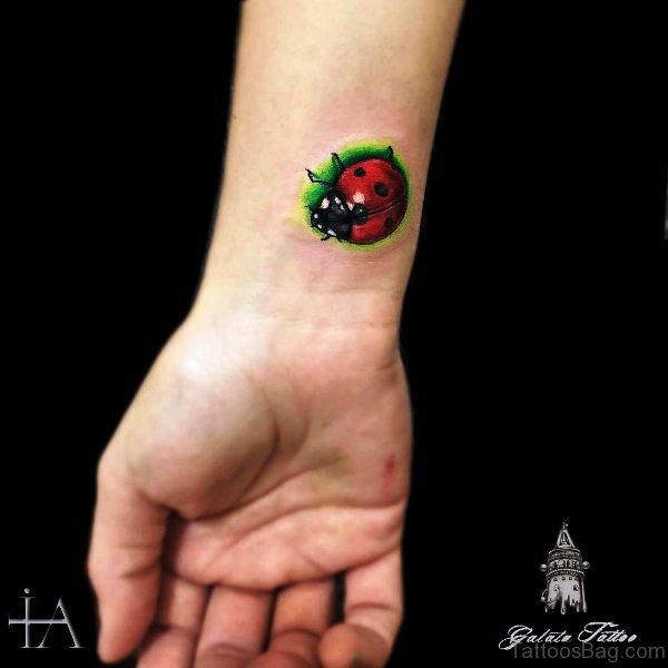 Marvelous Ladybug Wrist Tattoo