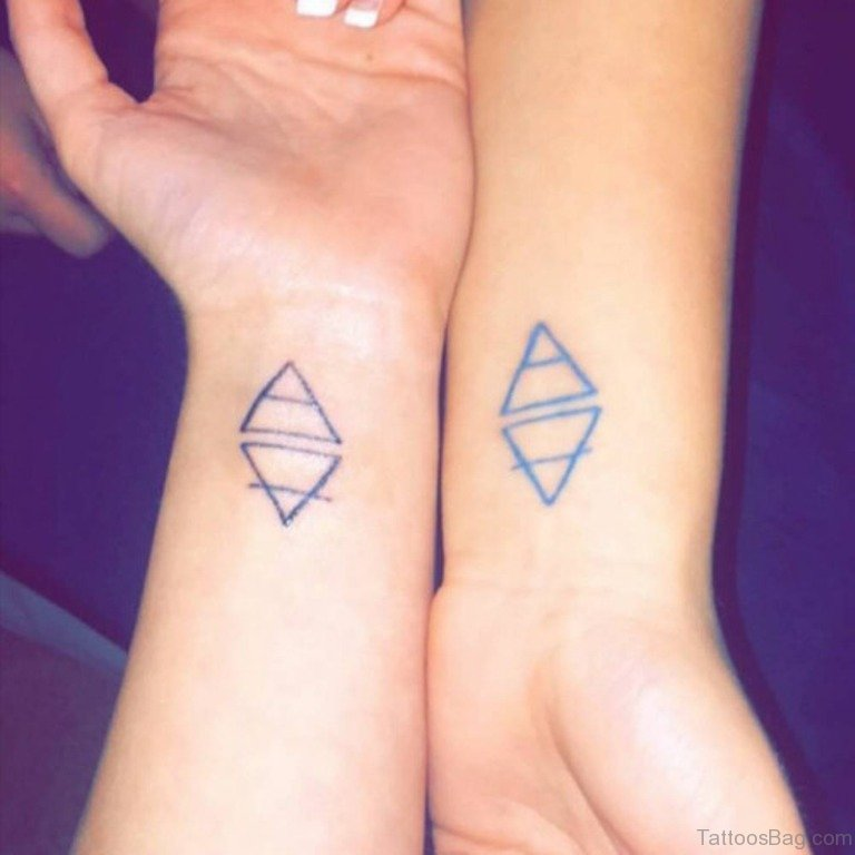 68 Mind Blowing Triangle Tattoos On Wrist