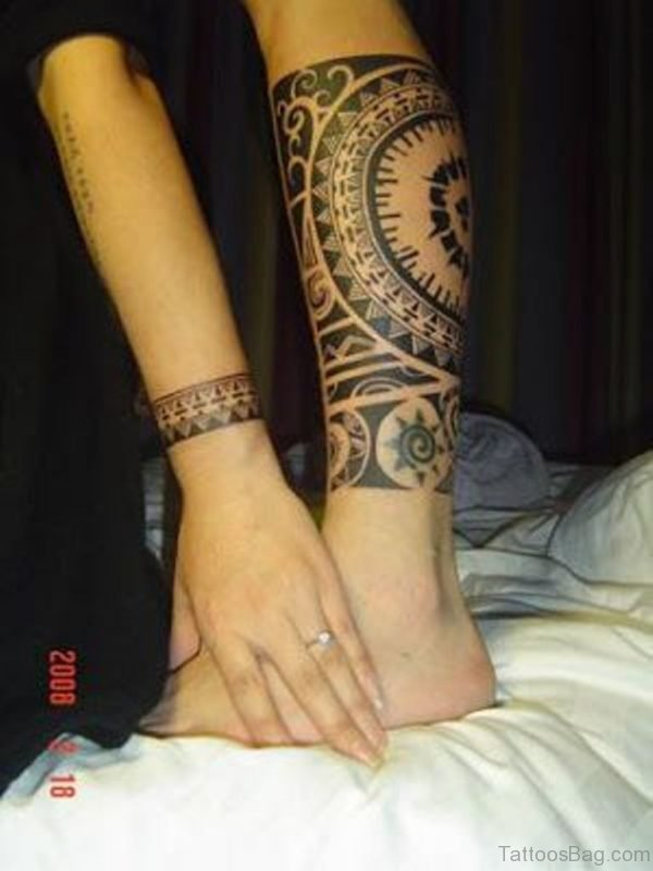 Matching Tribal Tattoo