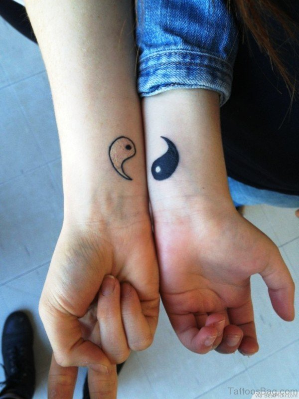 Matching Yin Yang Wrist Tattoo
