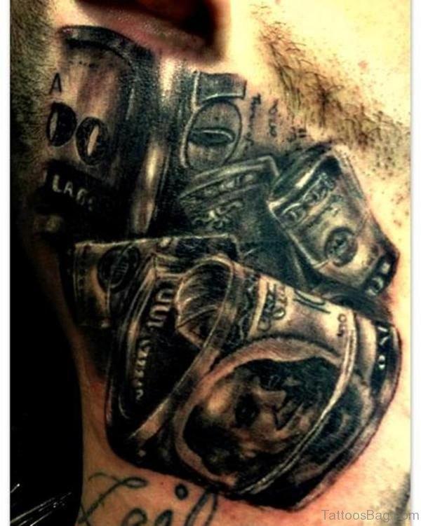 Mechanical Black And Grey Tattoo Design