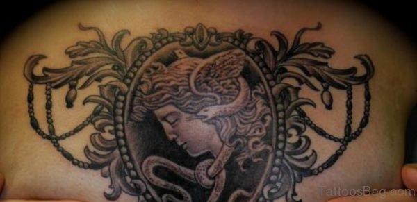 Medusa Chest Piece Tattoo For Women