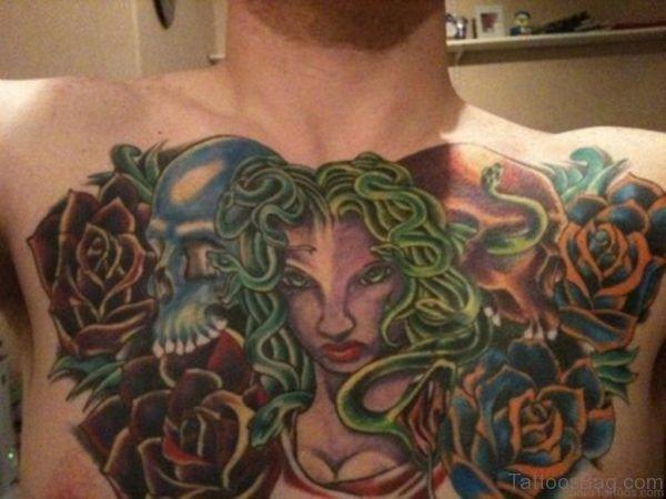 Medusa Tattoo Design On Chest Image