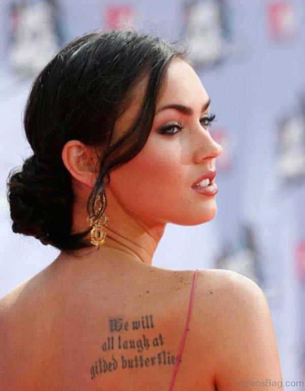Megan Fox Shoulder Blade Tattoo