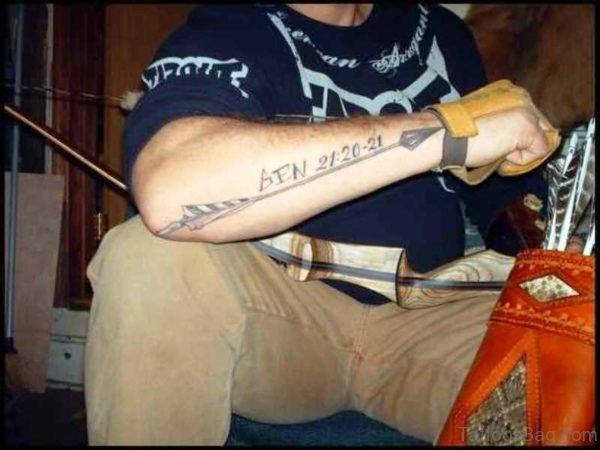 Memorable Arrow Tattoo On Arm