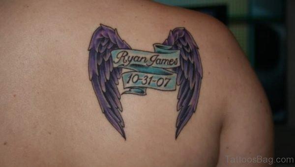 Memorial Wings Tattoo Design