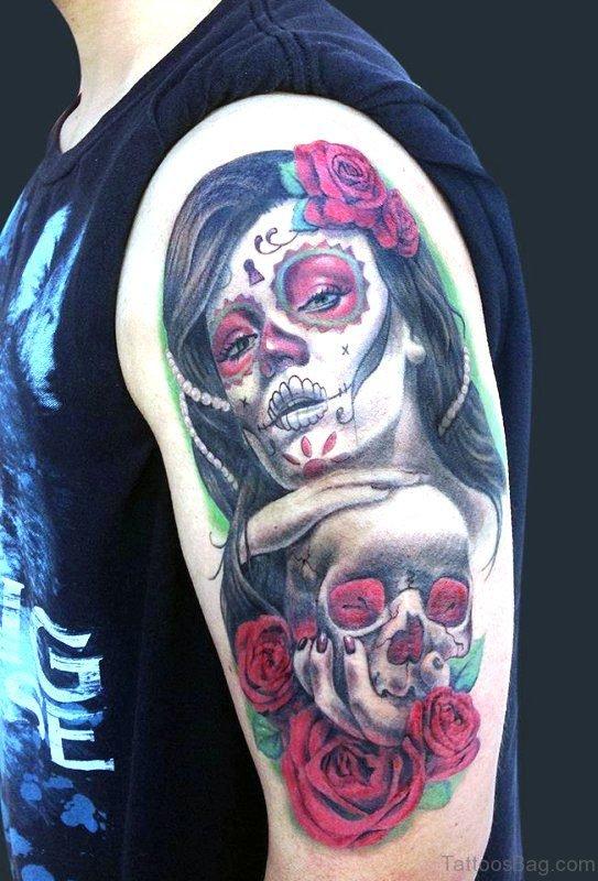 Mexican Skull Tattoo Design