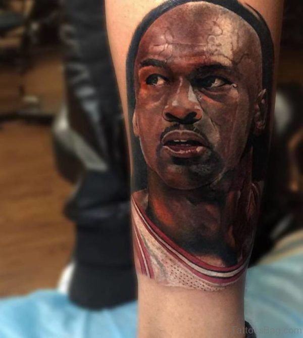 Michael Jordans Realistic Portrait Tattoo