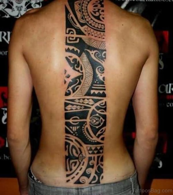Mind Blowing African Symbol Tattoo For Men Back
