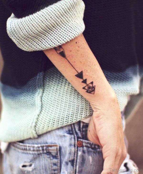 Mind Blowing Arrow Tattoo On Arm