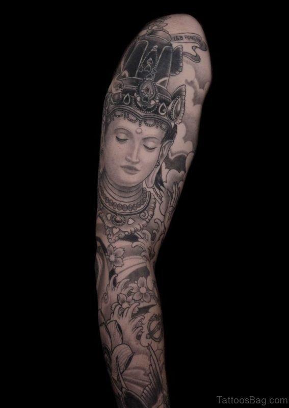 Mind Blowing Buddha Tattoo Design