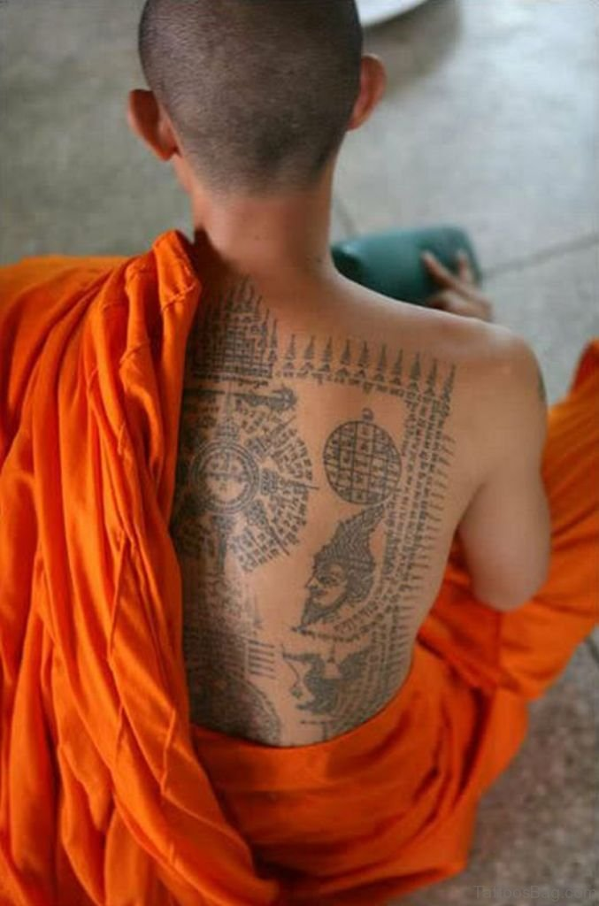 22 Best Buddhist Monk Tattoo On Back