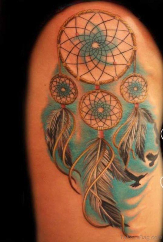 Mind Blowing Dreamcatcher Tattoo