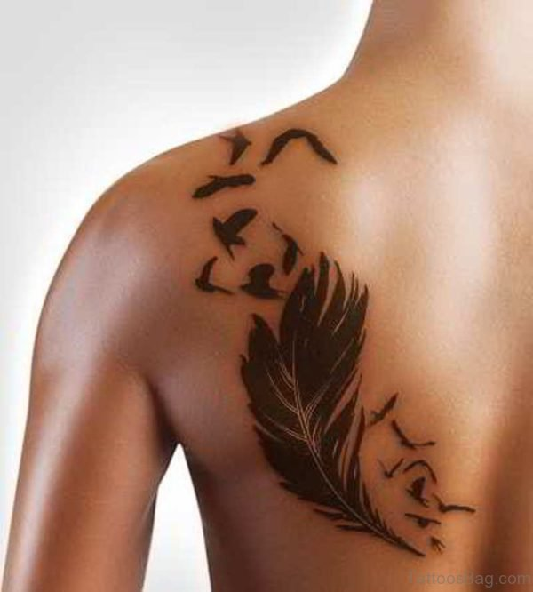 Mind Blowing Feather Tattoo