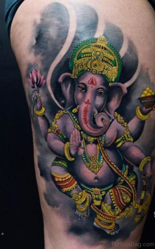 Mind Blowing Ganesha Tattoo