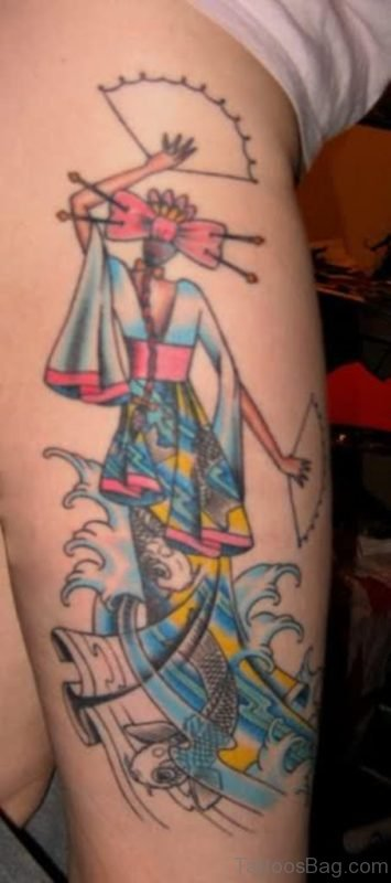 Mind Blowing Geisha Tattoo