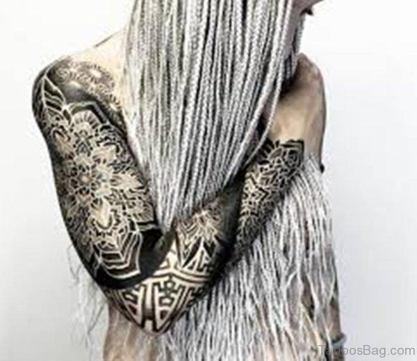 Mind Blowing Mandala Tattoo On Full Sleeve