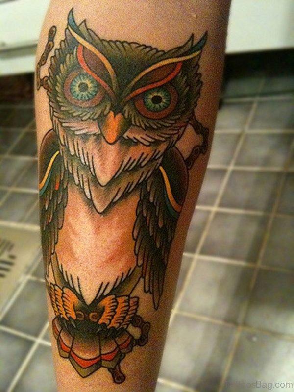 Mind Blowing Owl Tattoo