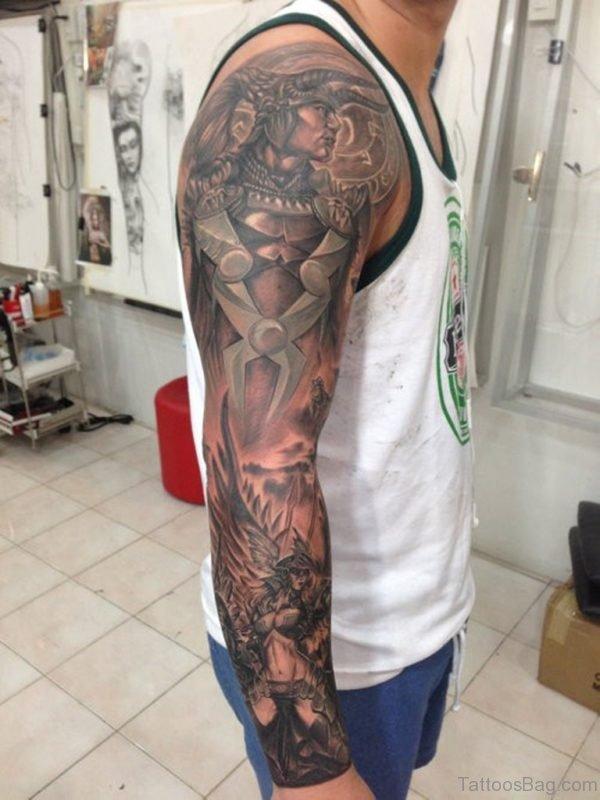 Mind Blowing Warrior Tattoo